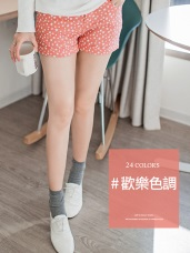 歡樂色調~嚴選主打多色/圖樣反摺短褲.24色