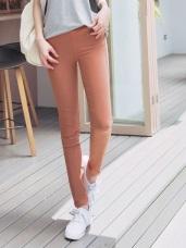 多色高彈力顯瘦窄管褲