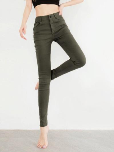 輕盈修身彈力窄管褲