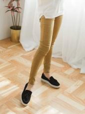 彈力體雕感窄管褲