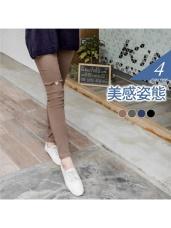 破損感斜紋彈力顯瘦窄管褲.4色