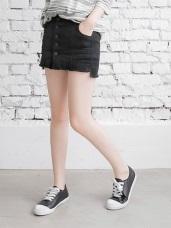 高含棉排釦設計褲型內裡彈力短褲裙