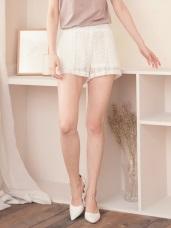 質感百搭純色蕾絲短褲