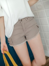 時尚刷破酷感嚴選高棉量牛仔短褲.6色