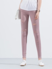 刷破造型顯瘦窄管褲‧4色