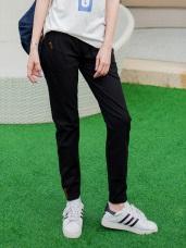 抽腰綁帶素面棉麻感休閒縮口錐形褲.6色