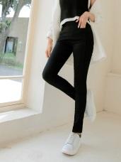 直線內收設計雪花美臀窄管褲