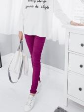 造型感繡線口袋修身剪裁彈性窄管褲‧8色