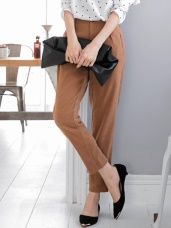 純色質感仿麂皮直筒長褲.2色