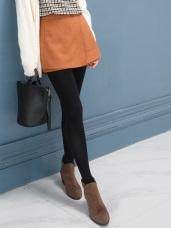 素面造型口袋片狀式設計褲裙.2色