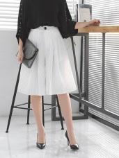 知性直條紋打摺設計後腰鬆緊五分寬褲.2色