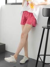 多色滿版鱗片圖案腰圍鬆緊內綁帶設計短褲.6色