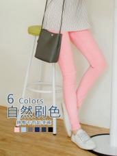 質感雪花刷色顯瘦彈性窄管褲.6色