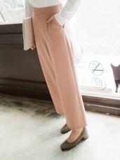 素色後鬆緊質感西裝寬褲.2色