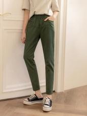 高含棉車線設計寬鬆褲