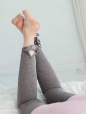 蝴蝶結造型高含棉彈力踩腳內搭褲