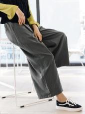 素色打褶西裝寬褲