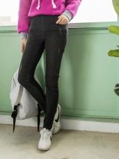 刷破感設計修身牛仔窄管褲