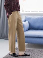 高含棉褲頭褲管抽鬚後鬆緊寬褲