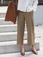 純色修飾顯瘦打折西裝寬版褲