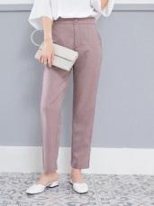 細直條紋筆直俐落西裝褲