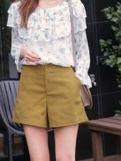 純色俐落A字包臀短褲