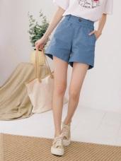 鬆緊寬版腰頭設計高含棉純色短褲