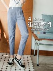 高含棉刷破感設計老爺褲