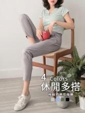 棉麻內點點設計腰圍綁帶老爺褲