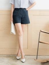 高含棉簡單率性木釦短褲