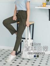 高含棉附簡約金屬腰帶設計老爺褲
