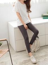 芭蕾舞褲-高彈性腰圍鬆緊褲