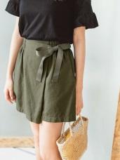 高含棉側綁帶造型褲裙