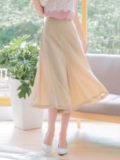 質感優雅素面造型釦七分寬褲