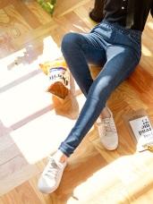 芭蕾舞褲-腰鬆緊水洗純色窄管褲