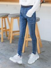 率性口袋設計牛仔窄管褲