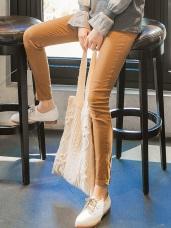 芭蕾舞褲-高含棉腰鬆緊素色窄管褲