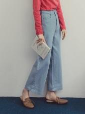 高含棉清爽色調質感寬褲