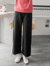 高含棉純色抽鬚寬版褲