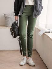 芭蕾舞褲-高含棉磨毛俐落修身窄管褲