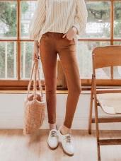 優雅女人車線修身美腿窄管褲