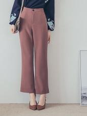 純色質感面料西裝寬褲