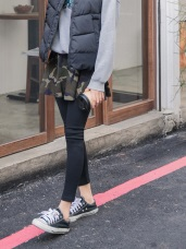 迷彩印花傘襬短裙假兩件式內搭褲