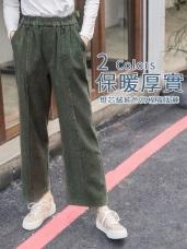 燈芯絨手感純色高棉寬版褲