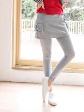 柔軟彈性休閒口袋內搭褲裙