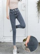 芭蕾舞褲-高彈力收腹水洗牛仔窄管褲