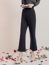 純色涼感質感西裝寬褲
