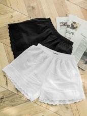 高含棉蕾絲內搭安全褲