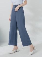 不易皺雪紡排釦設計墜感寬褲