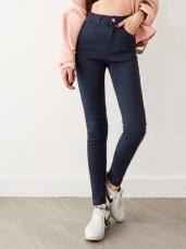 3D立體塑型視覺顯瘦基本彈力色褲